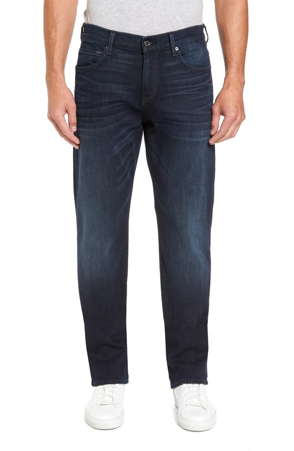 セブンフォーオールマンカインド メンズ デニムパンツ ボトムス 7 For All Mankind Luxe Performance - Carsen Straight Leg Jeans (Dark Current) Dark Current