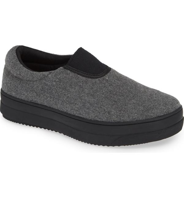 バーニーメブ レディース スニーカー シューズ bernie mev. Yarin Slip-On Sneaker Grey Flannel Leather
