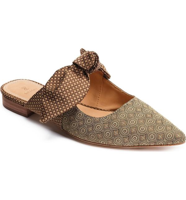 ビル ブラス レディース ヒール シューズ Bill Blass Sabrina Knotted Mary Jane Mule Gold Multi