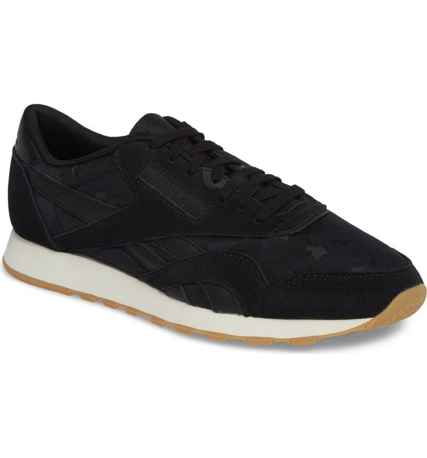 リーボック メンズ スニーカー シューズ Reebok Classic Leather Nylon SG Sneaker Black/ Chalk