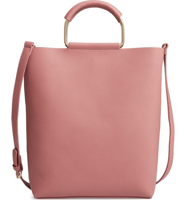 チェルシー28 レディース トートバッグ バッグ Chelsea28 Payton Convertible Faux Leather Tote Pink Rosette