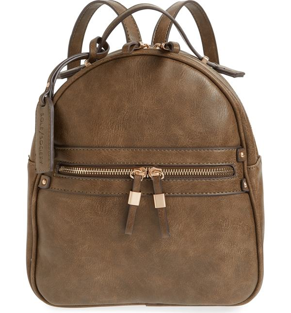 124e15ddd8c4 ソロソサエティ レディース バックパック・リュックサック バッグ Sole Society Faux Leather Backpack Olive  Zypa-バックパック・リュック