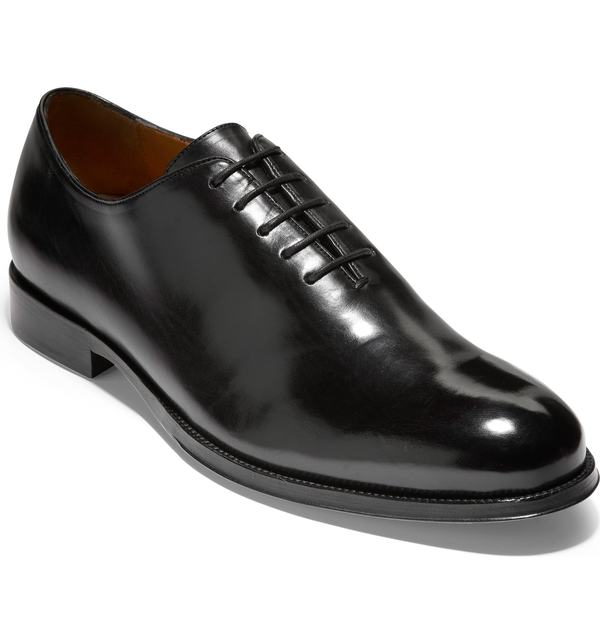 コールハーン メンズ オックスフォード シューズ Cole Haan American Classics Grammercy Whole Cut Shoe Black Leather