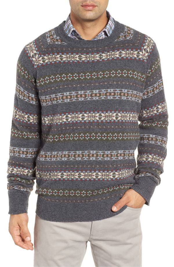 ピーター・ミラー メンズ パーカー・スウェット アウター Peter Millar Mountainside Fair Isle Crewneck Sweater Black