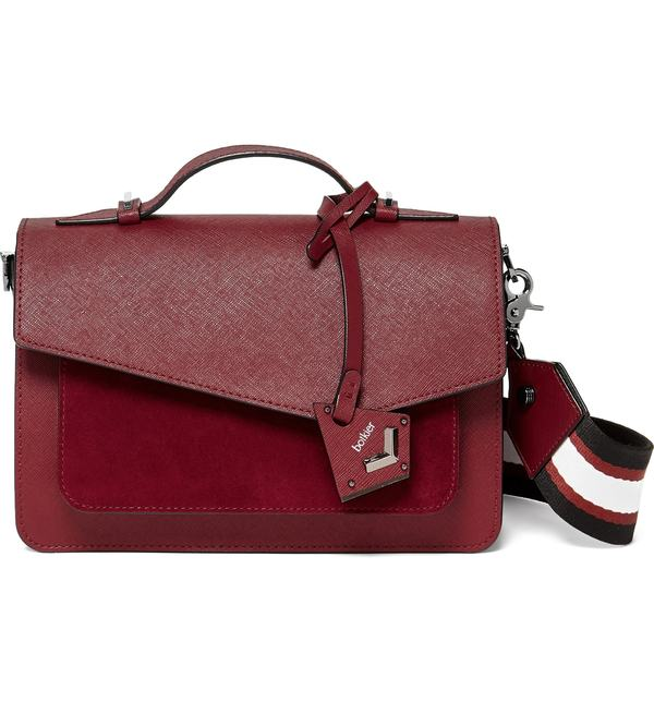 ボトキエ レディース ショルダーバッグ バッグ Botkier Cobble Hill Calfskin Leather Crossbody Bag Bordeaux