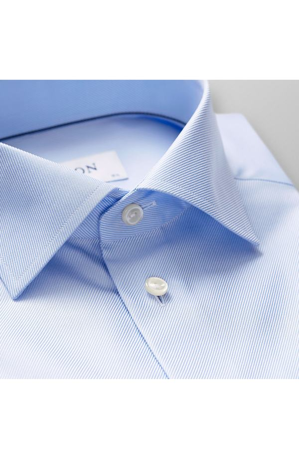エトン メンズ シャツ トップス Eton Slim Fit Non-Iron Dress Shirt Light Blue