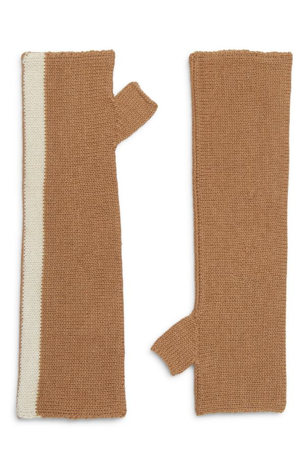ラミニ レディース 手袋 アクセサリー LAMINI Met Alpaca Fingerless Gloves Camel/ White