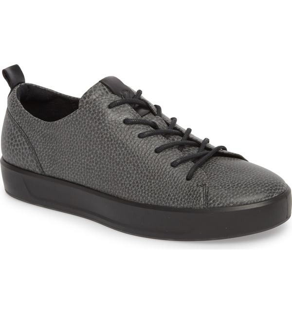 エコー メンズ スニーカー シューズ ECCO Soft 8 Tie II Low Top Sneaker Black