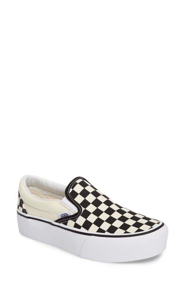 バンズ レディース スニーカー シューズ Vans Platform Slip-On Sneaker (Women) Black/ Black/ White