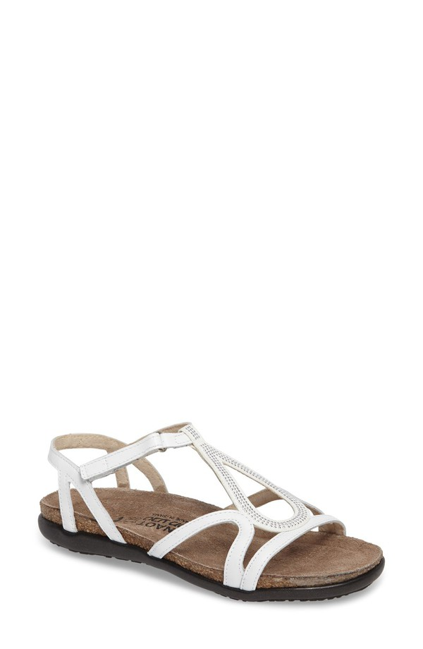 ナオト レディース サンダル シューズ Naot Tamara Studded Strappy Sandal (Women) White Leather