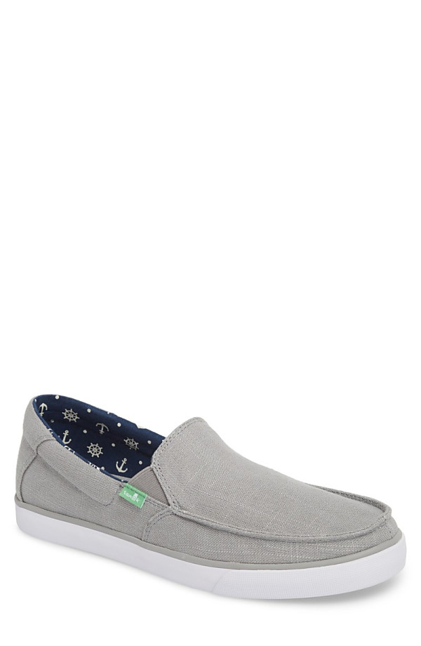 サヌーク メンズ スニーカー シューズ Sanuk Sideline Linen Slip-On (Men) (Nordstrom Exclusive) Grey