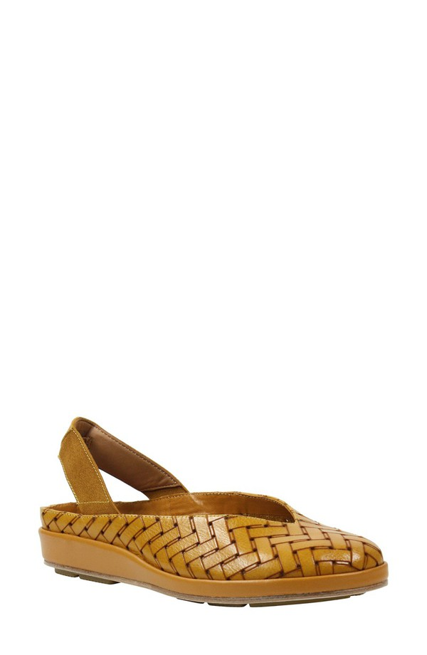 ラモールドピード レディース サンダル シューズ L'Amour des Pieds 'Cypris' Slingback Wedge (Women) Cognac Leather