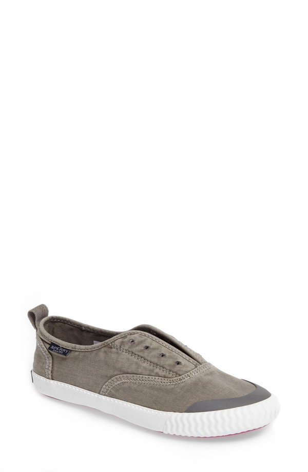 スペリー レディース スニーカー シューズ Sperry Sayel Slip-On Sneaker (Women) Grey Fabric