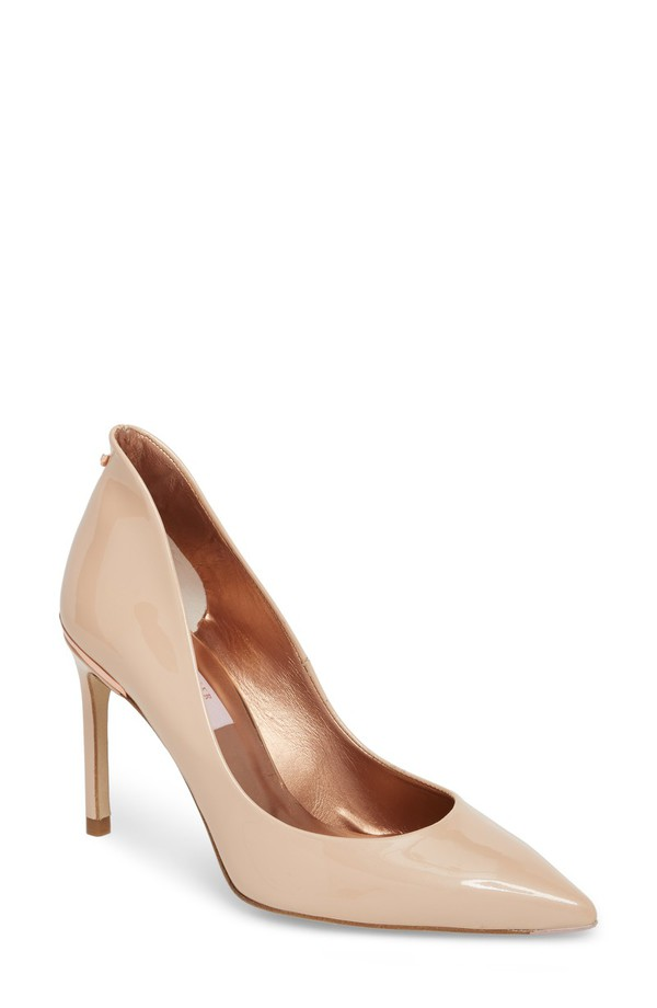 テッドベーカー レディース ヒール シューズ Ted Baker London Savio Pump (Women) Nude Patent Leather