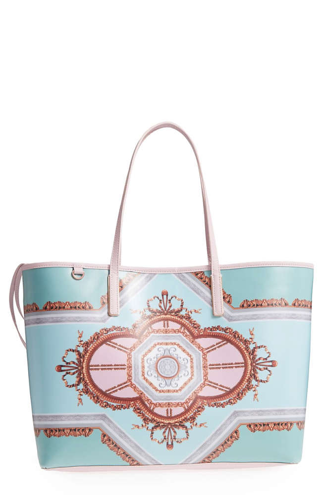 a4c7a745672f テッドベーカー レディース トートバッグ バッグ Ted Baker London Voletta Versailles Print Canvas  Tote Teal 国内発