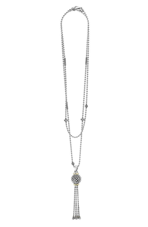 lagos caviar forever tassel pendant necklace silver gold mozeypictures Images