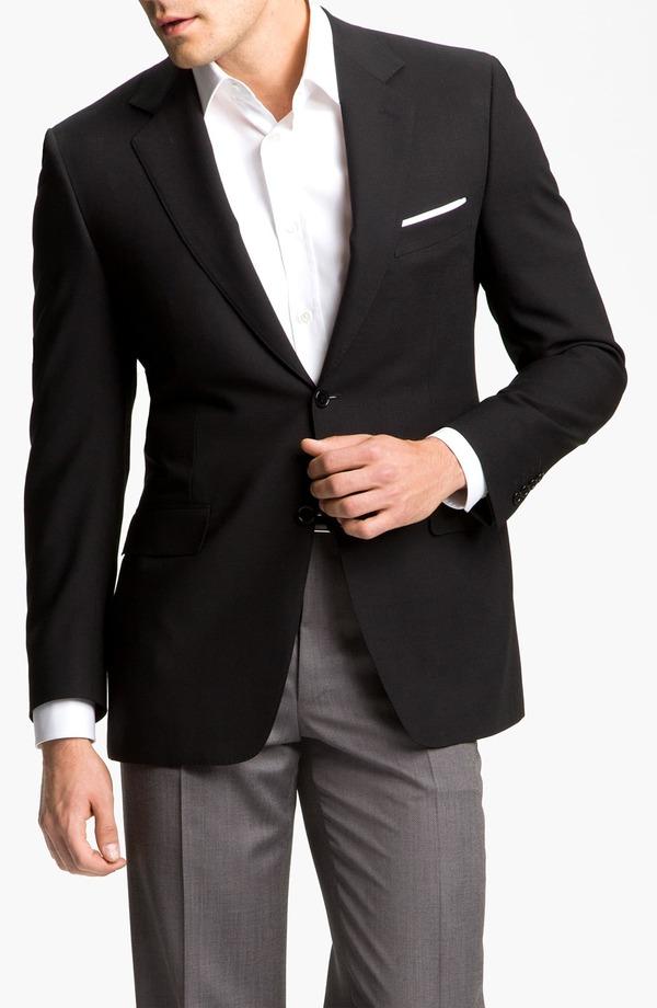 カナーリ メンズ ジャケット・ブルゾン アウター Canali Classic Fit Solid Wool Blazer Black