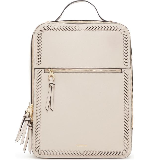 カルパック レディース バックパック・リュックサック バッグ Calpak Kaya Faux Leather Laptop Backpack Stone