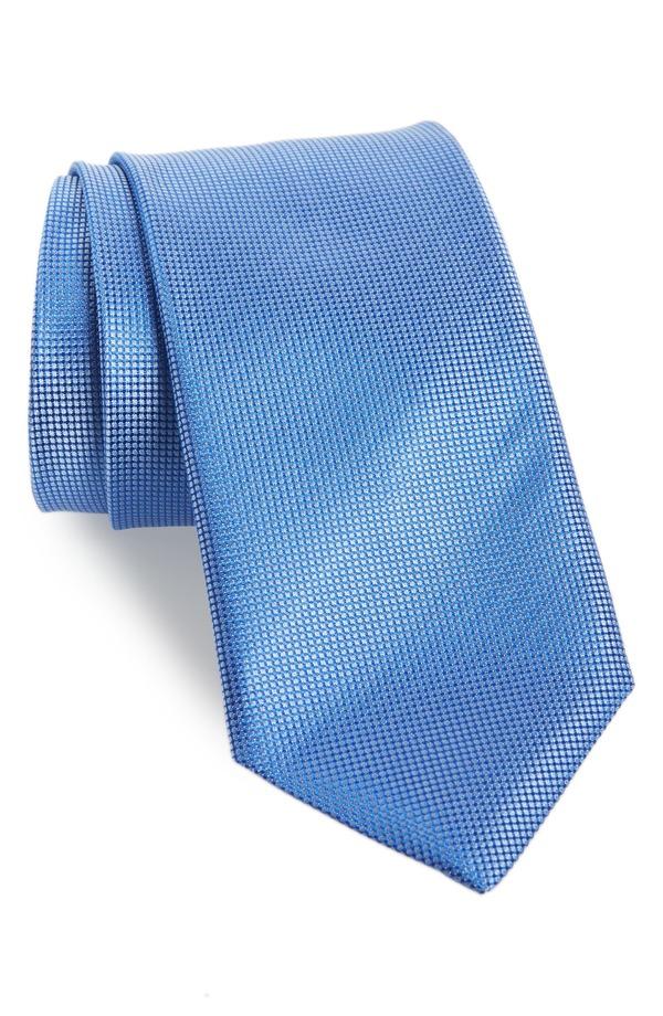 カナーリ メンズ ネクタイ アクセサリー Canali Solid Silk Tie Light Blue