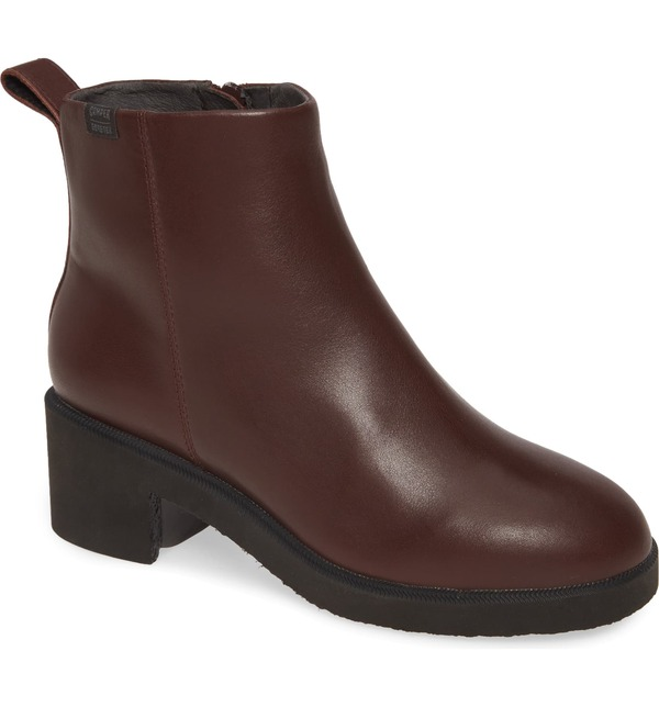 カンペール レディース ブーツ・レインブーツ シューズ Camper Wonder Gore-Tex Waterproof Bootie (Women) Burgundy Leather