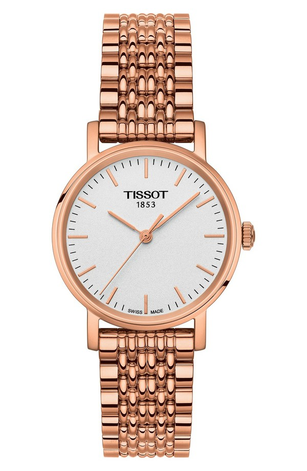 ティソット レディース 腕時計 アクセサリー Tissot Everytime Bracelet Watch, 38mm Rose Gold/ White/ Rose Gold