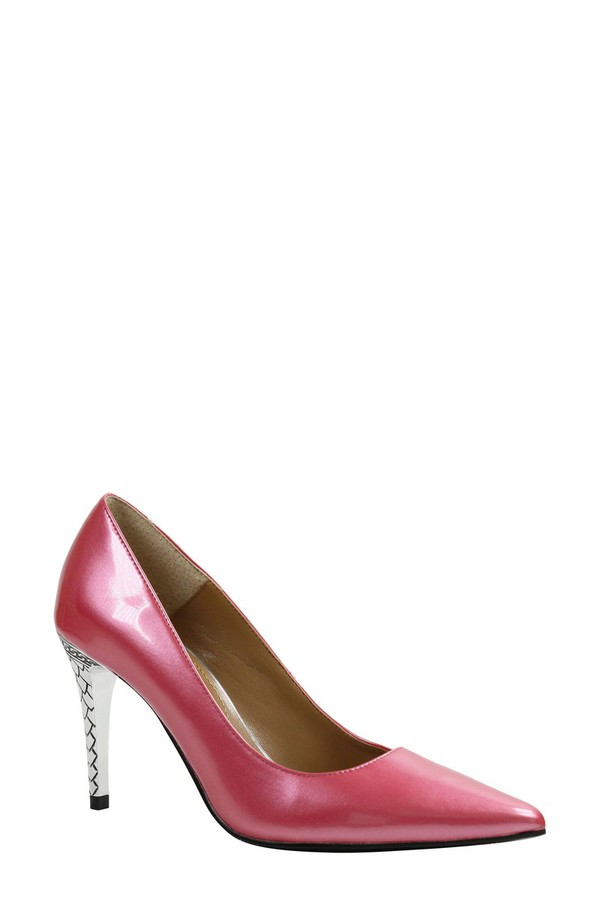 ジェイレニー レディース ヒール シューズ J. Rene 'Maressa' Pointy Toe Pump (Women) Raspberry Patent