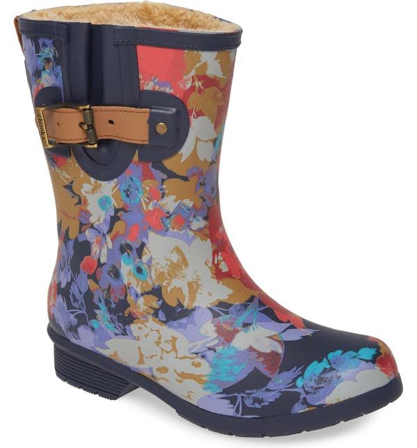 チョーカ レディース ブーツ・レインブーツ シューズ Chooka Macy Waterproof Mid Rain Boot (Women) Navy Rubber