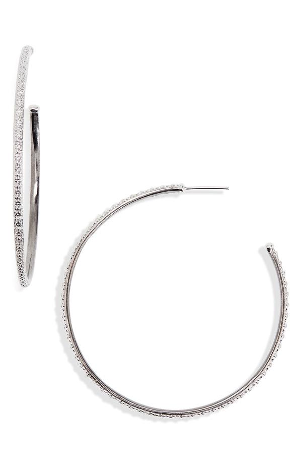 アーメントエー レディース ピアス・イヤリング アクセサリー Armenta New World Hoop Earrings Silver