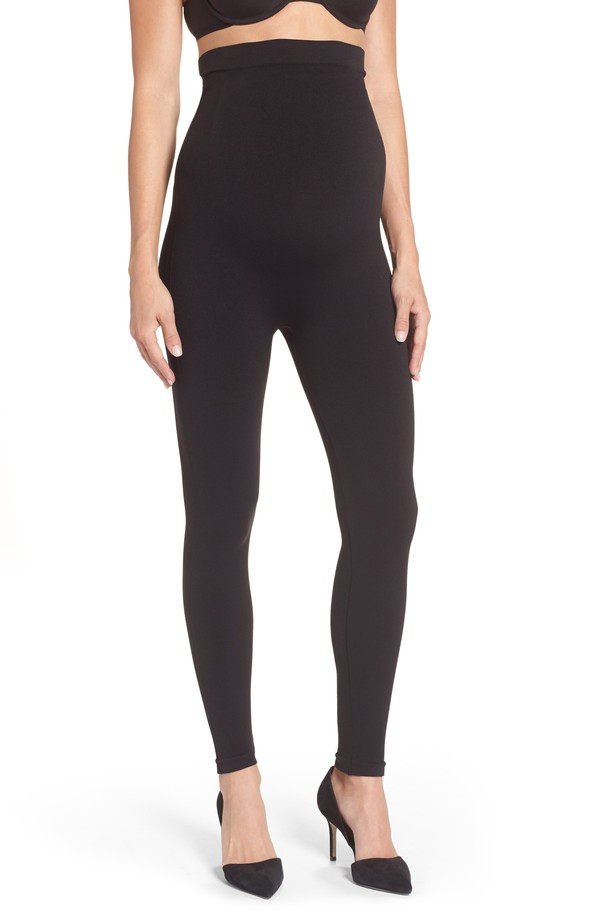 スパンクス レディース レギンス ボトムス SPANX Mama Look at Me Now Seamless Maternity Leggings Very Black