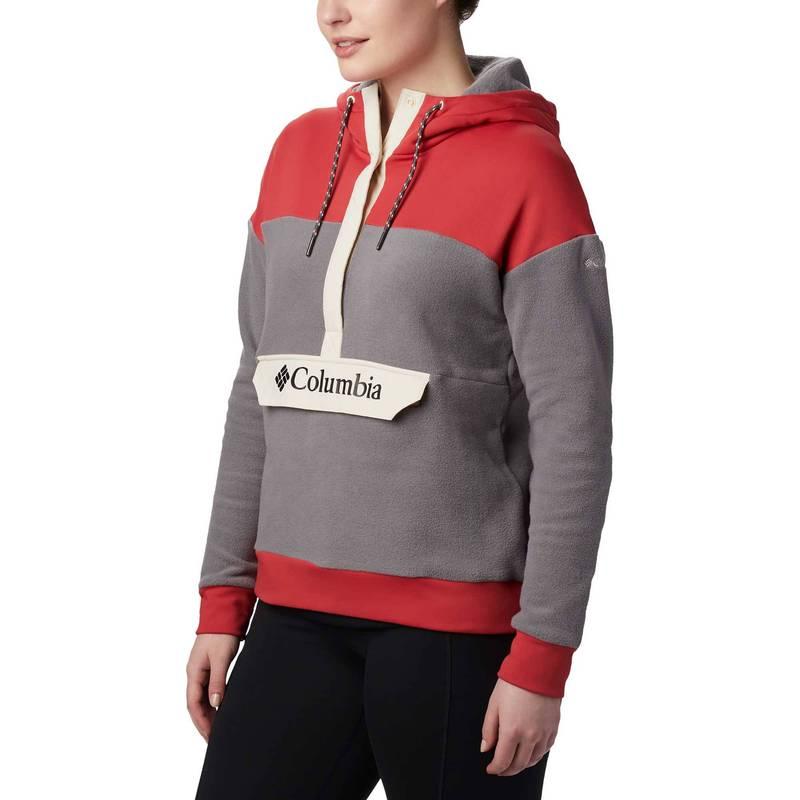 送料無料 サイズ交換無料 コロンビア レディース アウター パーカー スウェット City Daredevil Anorak 正規品 Women's Fleece Exploration Grey Columbia OUTLET SALE Hoodie