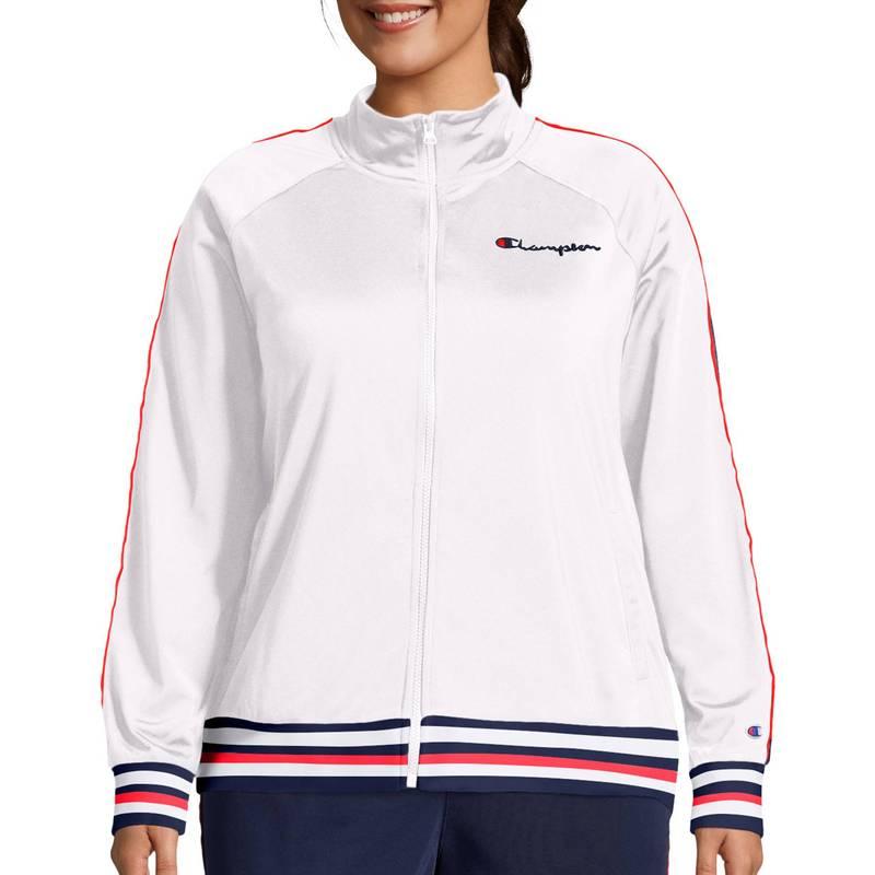 送料無料 サイズ交換無料 格安SALEスタート チャンピオン レディース アウター 一部地域を除く ジャケット ブルゾン Track Champion Women's White Jacket Plus