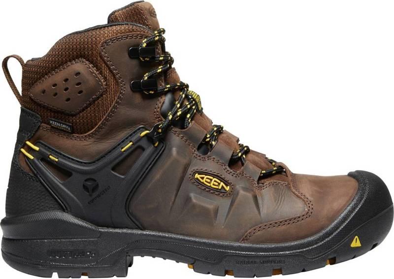 送料無料 サイズ交換無料 キーン メンズ シューズ ブーツ レインブーツ Dark Earth Black KEEN 日本産 Toe 新作入荷 Waterproof Dover Men's Boots Steel 6'' Work
