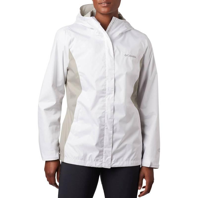 送料無料 サイズ交換無料 コロンビア レディース 受賞店 アウター ジャケット ブルゾン 当店一番人気 White Flint Women's Grey Jacket Arcadia II Rain Columbia