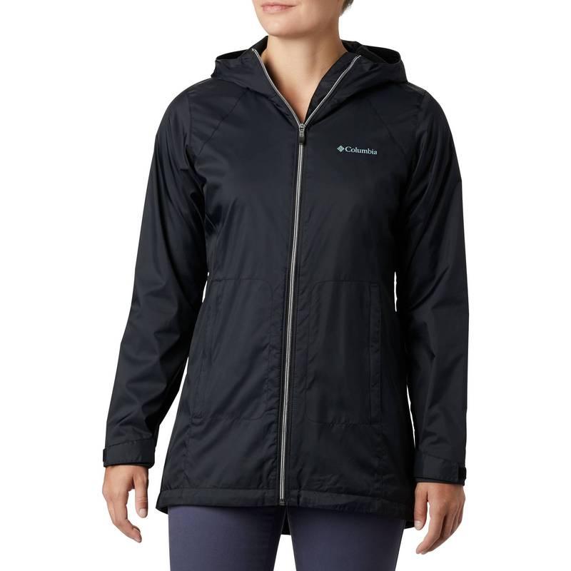送料無料 サイズ交換無料 コロンビア レディース アウター ジャケット ブルゾン Black Women's Jacket Columbia Lined 再再販 Long Rain 数量限定 Switchback