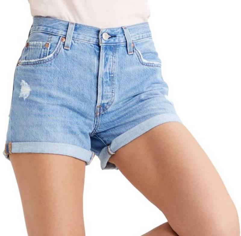 リーバイス レディース ハーフパンツ・ショーツ ボトムス Levi's Women's 501 Long Shorts Sansome Midday