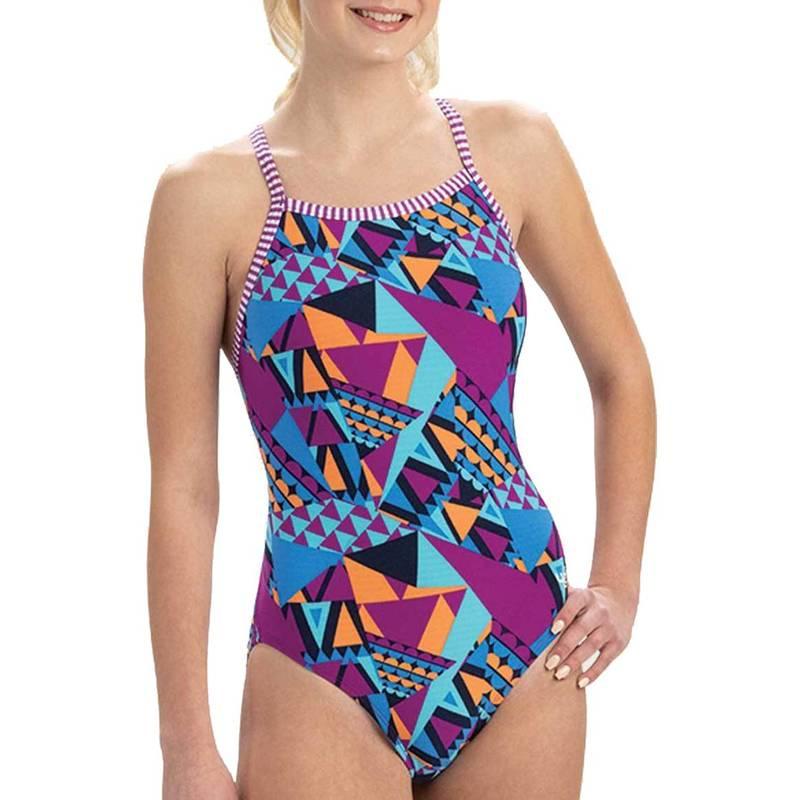 送料無料 サイズ交換無料 ドルフィン レディース 水着 上下セット Carnival Dolfin One Women's Uglies お気にいる Print Back V-2 Piece Swimsuit 売り込み