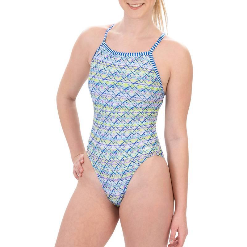 送料無料 サイズ交換無料 送料無料 激安 お買い得 キ゛フト ドルフィン 海外 レディース 水着 上下セット TECHNODREAMS Dolfin Women's Piece Uglies One V-2 Swimsuit Print Back