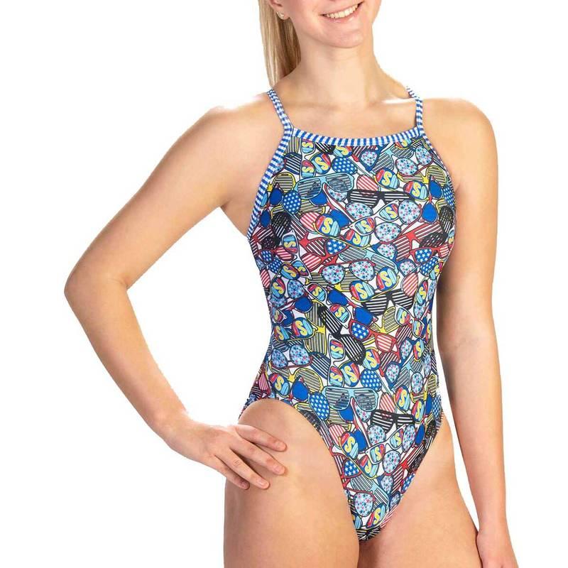 送料無料 サイズ交換無料 ドルフィン レディース 水着 上下セット United We 今季も再入荷 Shade Back Women's V-2 ファッション通販 Dolfin Swimsuit Print One Piece Uglies