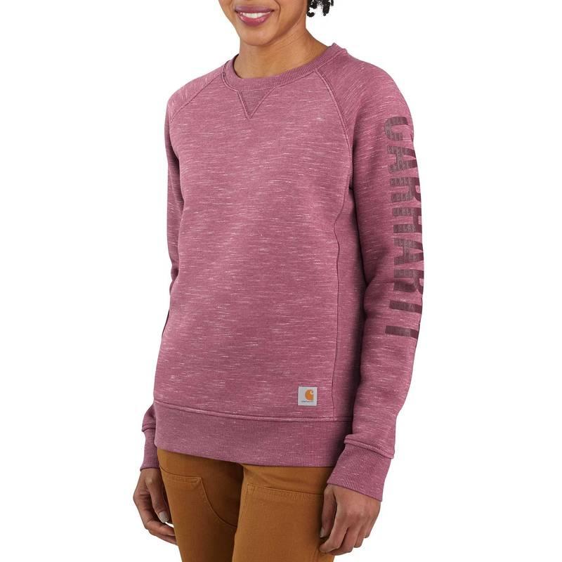 品質保証 新商品!新型 送料無料 サイズ交換無料 カーハート レディース アウター パーカー スウェット Amethyst Space Smoke Crewneck Women's Carhartt Dye Midweight Sweatshirt