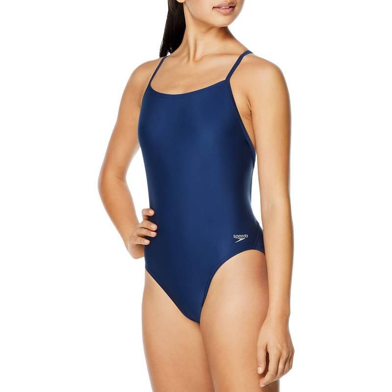 送料無料 サイズ交換無料 スピード レディース ブランド激安セール会場 水着 上下セット Peacoat Speedo Piece Relay Solid Back Women's Swimsuit 宅送 One