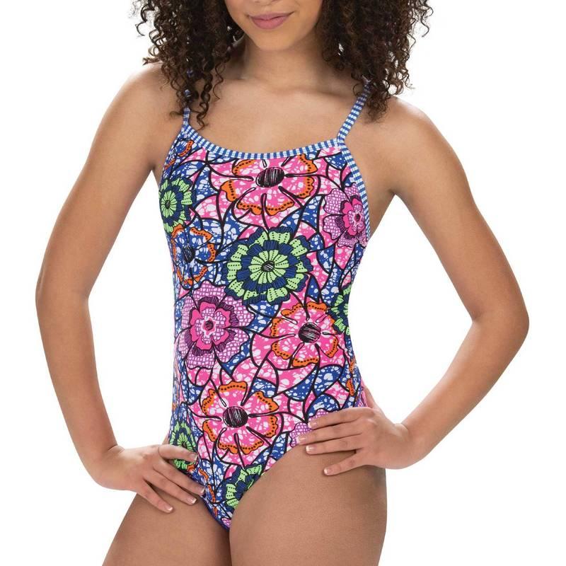 送料無料 サイズ交換無料 ドルフィン レディース 水着 上下セット Abalonia Dolfin Women's 日本正規品 Print Back One Uglies Double 商舗 Piece Swimsuit Strap