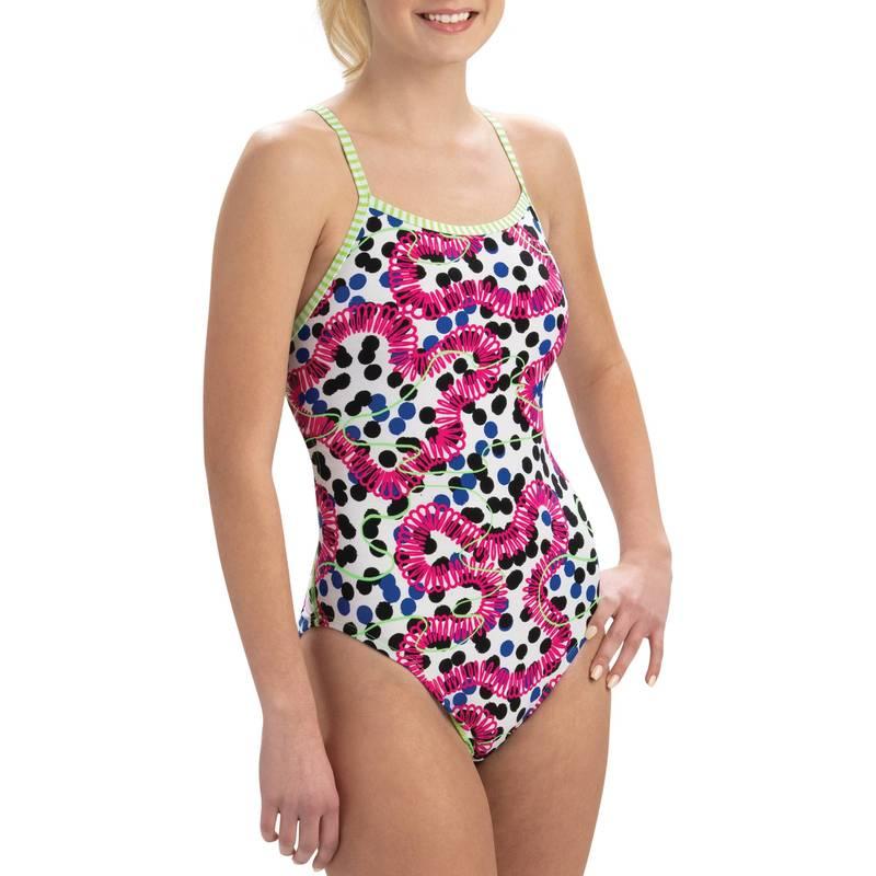 送料無料 上質 サイズ交換無料 ドルフィン レディース 水着 上下セット 激安挑戦中 Sassy Dolfin Women's Uglies Print Double Swimsuit One Piece Back Strap