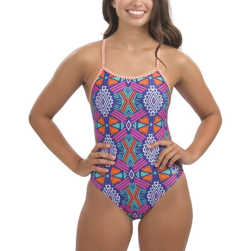 送料無料 サイズ交換無料 ドルフィン レディース 水着 爆売り 上下セット Maya Dolfin Print Swimsuit Women's Back String Piece Uglies One 商品追加値下げ在庫復活