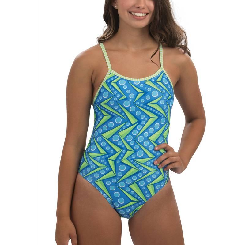 買い物 送料無料 サイズ交換無料 ドルフィン レディース 全店販売中 水着 上下セット Zenon Dolfin Swimsuit String Back Women's Print Piece Uglies One