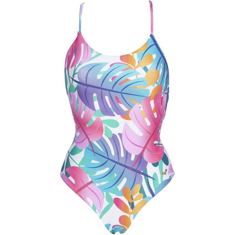 送料無料 サイズ交換無料 アリーナ レディース 格安 水着 上下セット Pink Flambe Multi 訳あり商品 Women's Reversible One Twist Piece Swimsuit arena White Back