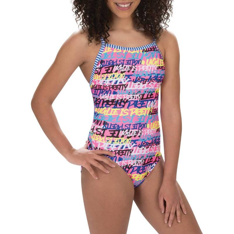 送料無料 サイズ交換無料 ドルフィン レディース 水着 上下セット Multi Dolfin So Piece Women's One 返品不可 Pretty Back Swimsuit V-2 新登場