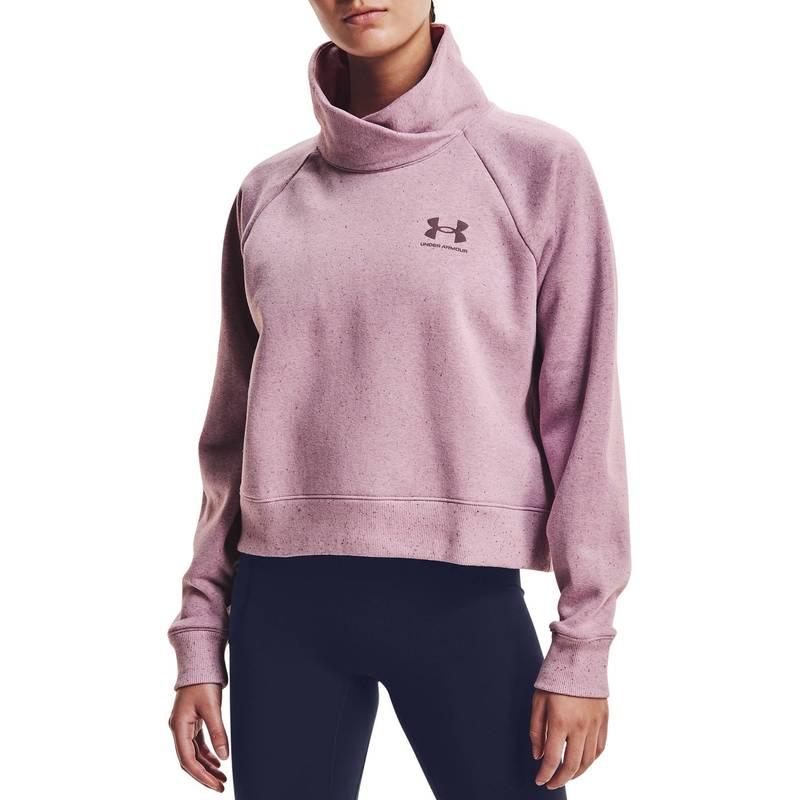 送料無料 サイズ交換無料 アンダーアーマー レディース アウター 100%品質保証! パーカー スウェット Mauve Pink Fleece 人気上昇中 Women's Rival Under Pullover Wrap Sweatshirt Neck Armour