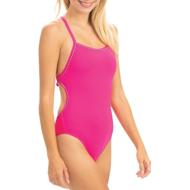 送料無料 サイズ交換無料 全店販売中 お洒落 ドルフィン レディース 水着 上下セット Pink Dolfin Women's Uglies Back One Swimsuit Tie Piece Revibe Solid