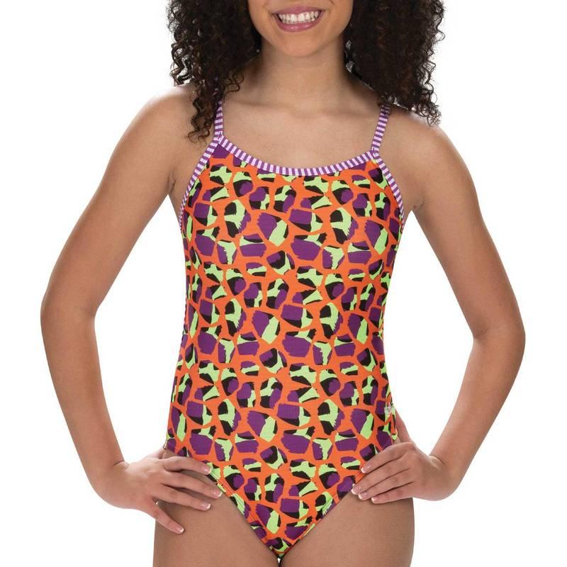 送料無料 スーパーSALE セール期間限定 サイズ交換無料 ドルフィン レディース 水着 上下セット Jumping Giraffe Dolfin One Swimsuit 注文後の変更キャンセル返品 Back Uglies Print String Women's Piece