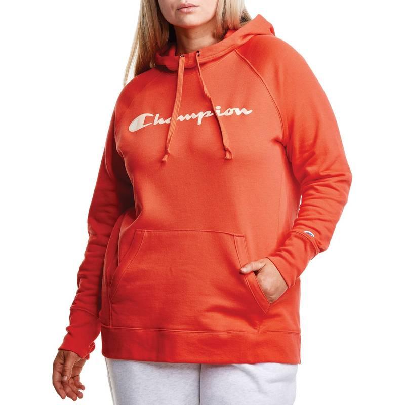 送料無料 サイズ交換無料 チャンピオン レディース アウター パーカー スウェット Hoodie Poppy スーパーセール Plus Champion 引き出物 Orange Powerblend Women's